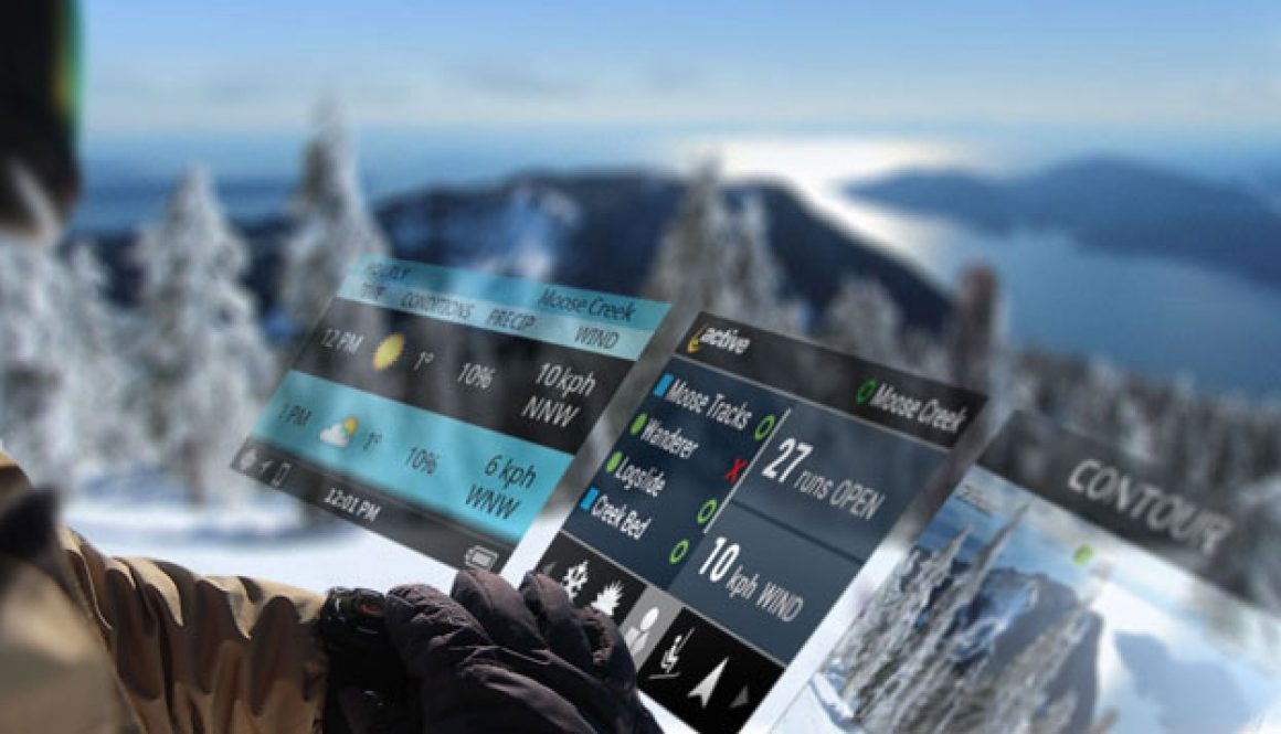 Heads Up Display skiing and snowboarding goggles