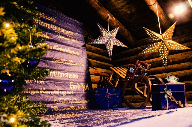 Festive decorations at Saas Fee Christmas Markets