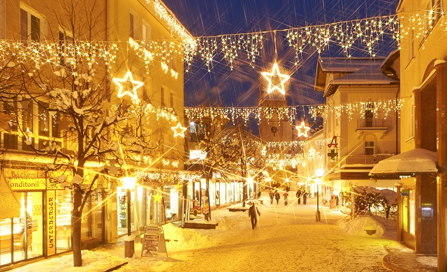Zell am See Christmas lights