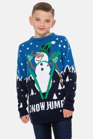 Christmas skiing snowboard jumper