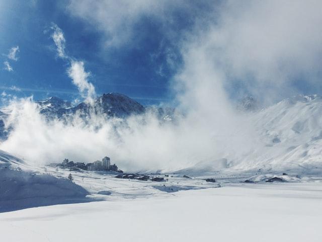 Clouds in Tignes ski resort