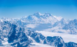 Mount Everest and the Himalayas mountain range