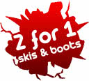 2 for 1 ski and boot hire